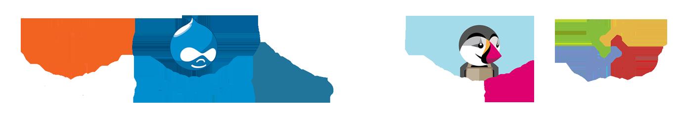 Administración de Páginas Web con CMS Drupal, Wordpress, Joomla, Magento, Prestashop.