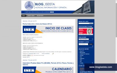 Diseño Web Blog Iseista