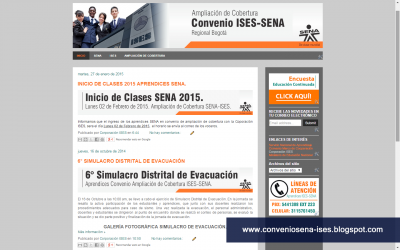 Diseño web para convenio de ampliación de cobertura SENA - ISES
