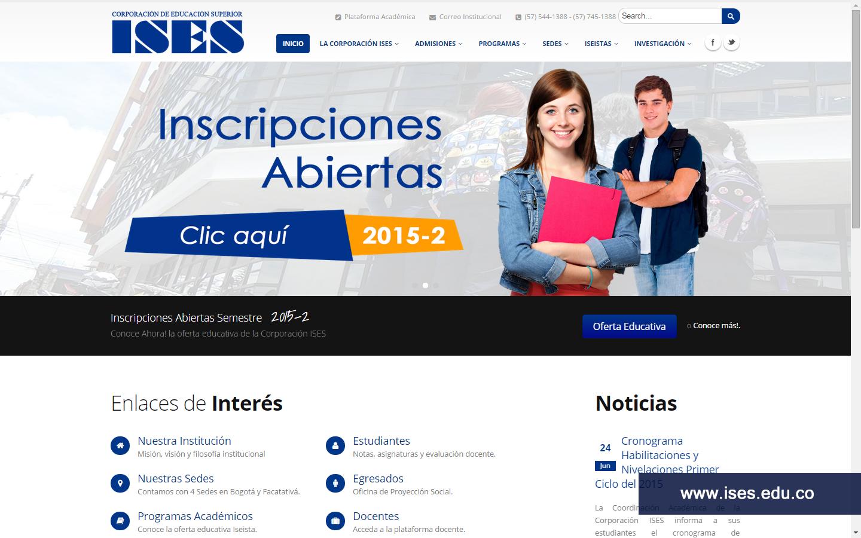 Página Web Corporación ISES