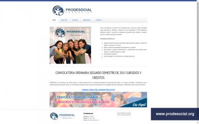 Diseño Web para Prodesocial Fundación