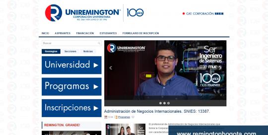 Diseño Web para Uniremington en Convenio de Ampliación Territorial en Bogotá