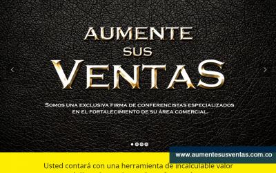 Diseño Web para Firma de Conferencistas especialidados en fortalecimiento comercial.